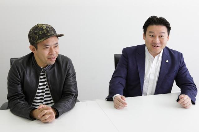 別府市長の長野恭紘氏(右)と音楽監督の清川進也氏(左)