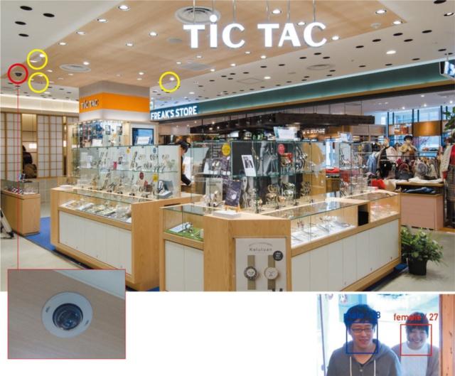 【ここに一工夫】顔認証カメラはレジの上に配置、カウントカメラは店舗全体をカバーする
