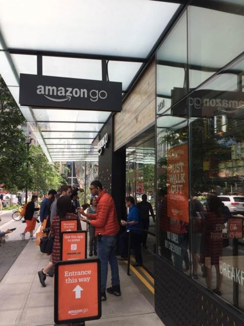 2018年1月に一般向けの営業を開始した「Amazon Go」