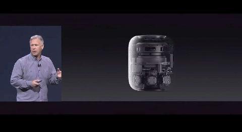 フィリップ・シラー氏によるHomePodの説明は、技術的な特徴から始まった。アップルの基調講演の動画から
