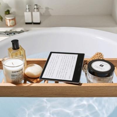 電子書籍リーダー「Kindle」は10月に発売された最上位機種「Oasis」でIPX8等級の防水機能を装備。お風呂などでも読めるようになった