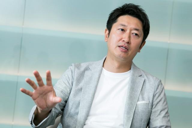 今回の戦略を語る日清食品の安藤徳隆社長。1977年生まれ。2007年に日清食品に入社し、経営企画部部長や日清食品ホールディングスCMO(グループマーケティング責任者)、CSO(グループ経営戦略責任者)などを歴任し、15年4月から現職