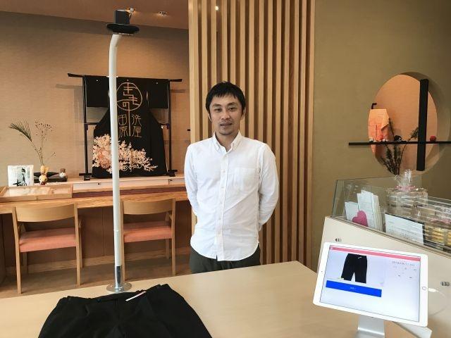 クリーニング店のAI無人受付システムを開発したエルアンドエー副社長の田原大輔氏