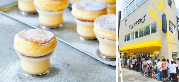 中目黒店は2フロア(右写真)。2階がパンケーキカフェになっており、パンケーキプリンは1階でテイクアウトできる(左写真)