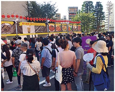 10月上旬の「東京タワー台湾祭」も連日大混雑だった