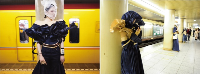 東京メトロ・銀座線の車内やホームで、ファッションショーを開催することもあった。地下鉄は単なる移動の手段ではなく、パブリックスペースとしてもさまざまな可能性がある空間であることを示した(写真提供/日建設計)
