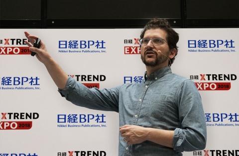 「日経クロストレンド EXPO 2018」に登壇した米アマゾン・ドット・コム デバイス部門 Smart Home事業担当 バイス・プレジデント(VP)のダニエル・ラウシュ氏