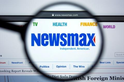 米ニュースマックスのWebページ(写真/Shutterstock)