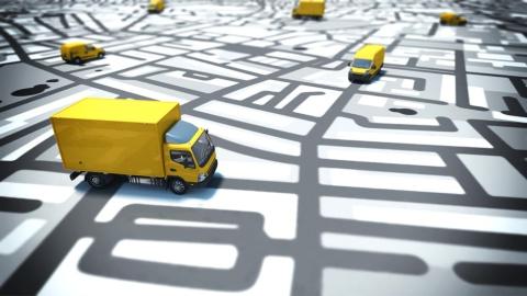 物流会社が運ぶ荷物をユーザーがアプリで追跡するイメージ(写真/Shutterstock)