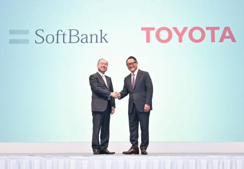 18年10月、トヨタ自動車とソフトバンクの共同会社の設立会見での一幕