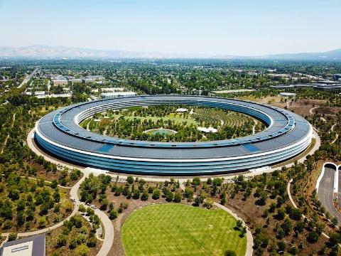 アップルの新本社「アップルパーク」(出所/Shutterstock.com)