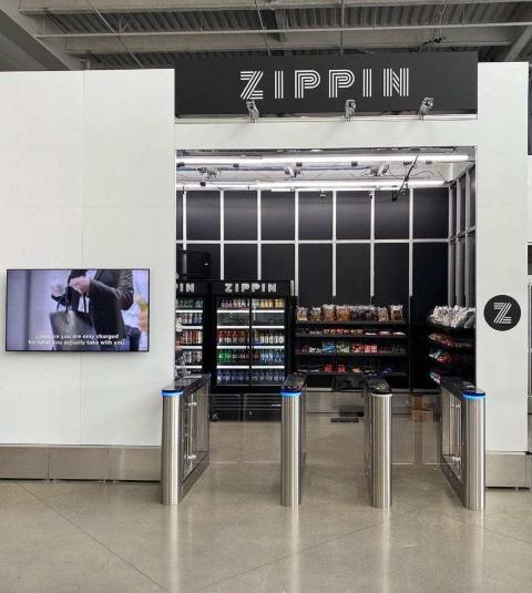 ジッピンの技術を導入した、米カリフォルニア州サクラメント市にあるスタジアムのレジレス店舗。プロバスケットボールチームのサクラメント・キングスが所有するゴールデン1センター内