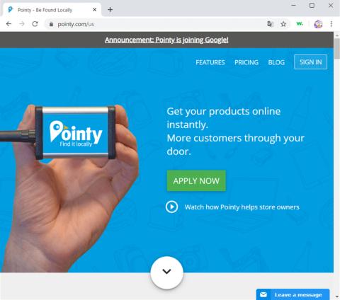 ポインティの提供する在庫情報管理用のハード「Pointy Box」