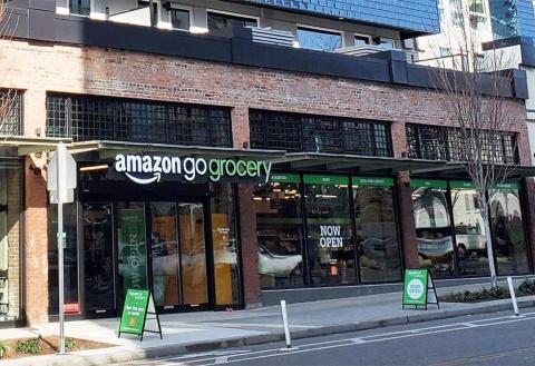 米シアトルに出店したAmazon Go Groceryの1号店