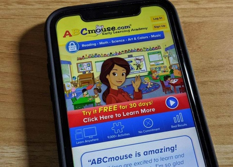 ABCmouse.comのアプリ画面