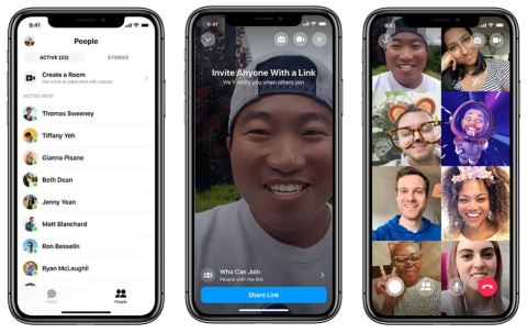 Messengerで50人までの友人とビデオ通話が可能となる(出所/米フェイスブック)