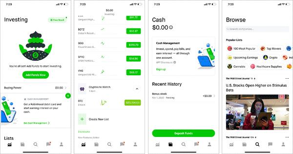 ロビンフッドの株式取引画面(出所/ロビンフッドのiPhoneアプリ)
