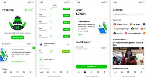 Robinhoodの株式取引画面(出所/RobinhoodのiPhoneアプリ)