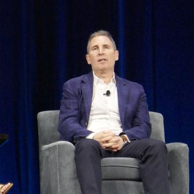 米アマゾン・ウェブ・サービス(AWS)のアンディ・ジャシーCEO。19年6月、米ワシントンDCでのAWSイベント(撮影/シリコンバレー支局)