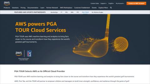 米プロゴルフの競技団体PGAツアーはアマゾンの力を借りてデジタル化を加速する