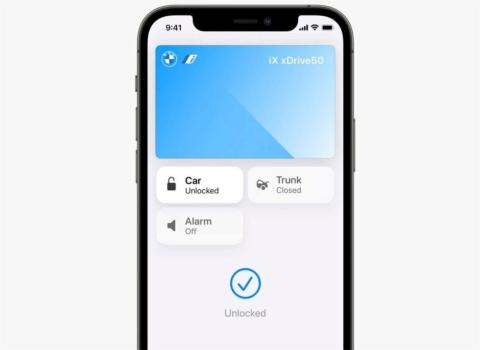 iPhoneは、iOS 15でUWBを活用した自動車の鍵になる(出所/WWDC21での基調講演をキャプチャーしたもの)