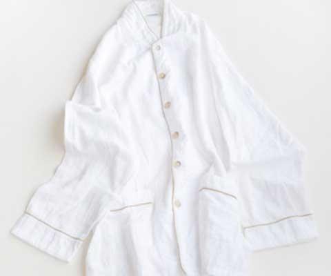 吸汗・調湿性に優れる「京和晒綿紗」を使ったパジャマ