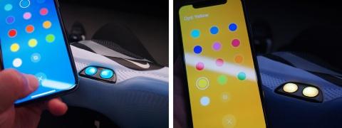 アプリを操作して本体ボタンの色を変えることも可能