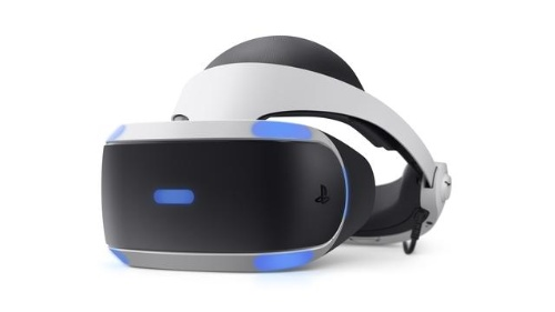 現行モデルのPlayStation VRのヘッドセット「CUH-ZVR2」。2017年に発売した(出所:SIE)