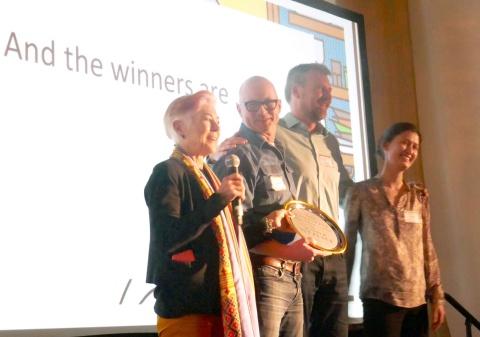 10社のスタートアップから4社が選ばれた(Food+Cityによる表彰式)