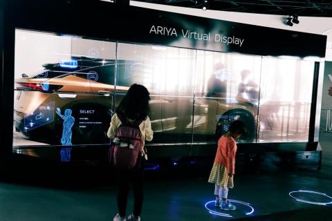 10月23日まで限定で建てられた体験型施設「ニッサン パビリオン」(横浜市みなとみらい)では、アリアなど日産車の魅力を様々なコンテンツで体感できる。アリアにも試乗できる