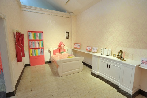 撮影スポットとして知られる「新生姜の部屋」