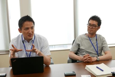 池本圭さん(右)アクティブソース取締役 副社長。鈴木悠理さん(左)アクティブソース人事総務部部長。取材はセントラルキッチンを兼ねた南東京オフィスで行われた