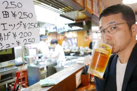大井町店で取材後の1杯