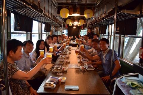 京阪電車石山坂本線「ビールde電車」7月12日~8月31日の期間中、金曜日と土曜日の計10日間運行。こちらは完全予約制。3980円でお弁当付き、生ビールとハイボールが飲み放題