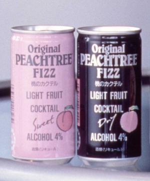 80年代にヒットした桃のカクテル「ピーチツリーフィズ」