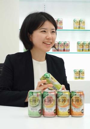 キリンビール マーケティング本部 マーケティング部 RTDカテゴリー戦略担当 小野寺 有紀主務。04年4月キリンビール入社。16年よりRTD全般の商品開発に携わり、20年4月より本搾りのブランドマネージャー