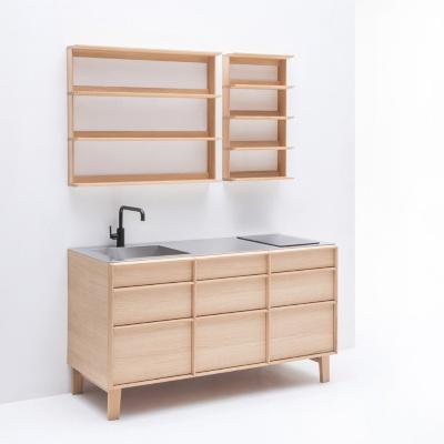 キッチンメーカーのサンワカンパニーとのコラボレーションで開発中のキッチンも、コンセプトモデルを市内の展示会場で発表した