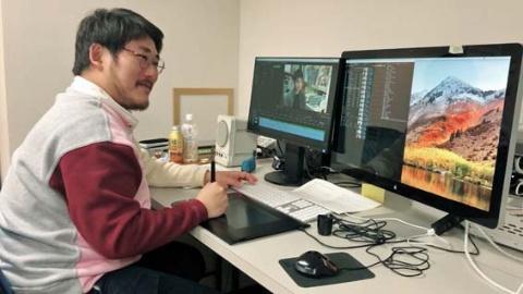 撮影された映像の仕上げ作業は、編集マンの宮田耕嗣氏が担う