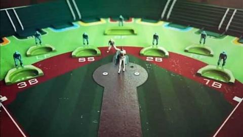 番組で挿入されるCGシーンは「野球盤」をモチーフにしている。(『師弟物語~人生を変えた出会い~「田中将大×野村克也」』より)(C)NHK