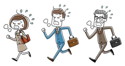 「はぁ、はぁ……」と息を切らして記者のオフィスを訪問するのには理由があるのです (イラスト:KEIGO YASUDA/Shutterstock.com)
