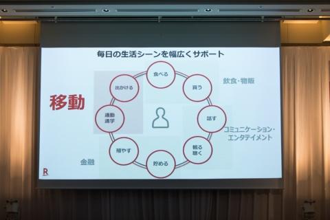2019年6月5日の記者会見で楽天ペイメントの中村晃一社長が提携の狙いを語った