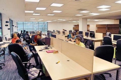 30社以上のインキュベーションカンパニーの人々が働くセクション