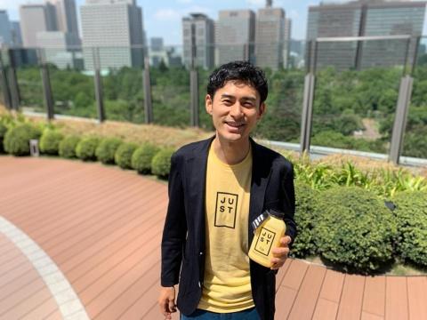 2018年に米ジャストに参画した味の素出身の若き研究者、滝野晃將(あきひろ)氏。1988年生まれ