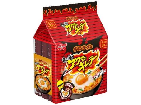 チキンラーメン60周年の2018年度には、ひよこちゃんを悪魔にし、袋麺「アクマのキムラー」を投入するなどして史上最高売り上げを達成