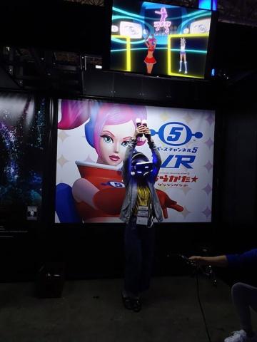 18年にも出展された『スペースチャンネル5 VR あらかた★ダンシングショー』は今回も出展される(写真はTGS2018より)