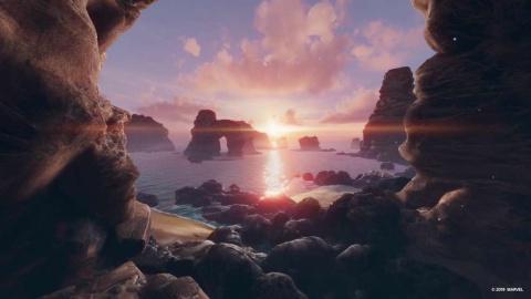 試遊でもまさにこんな場所を飛ぶことができる。(c) 2019 MARVEL (c) 2019 Sony Interactive Entertainment LLC. Developed by Camouflaj, LLC