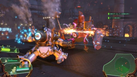 戦闘パートでは独特のメカに乗り込んで敵と戦う。従来のシミュレーションゲーム仕立てのターン制から、リアルタイムの3Dアクションへと変更された