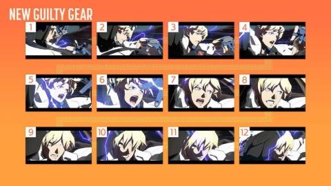 メインキャラクターの一人、カイ=キスクの12枚のカット(画像提供:アークシステムワークス)