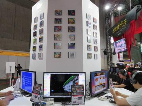 懐かしのゲームが多数遊べる『PCエンジンmini』。製品版に収録される全収タイトルがプレイ可能な状態で出展されていた