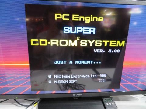 『CD-ROM2』または『SUPER CD-ROM2』のタイトル画面も再現されている